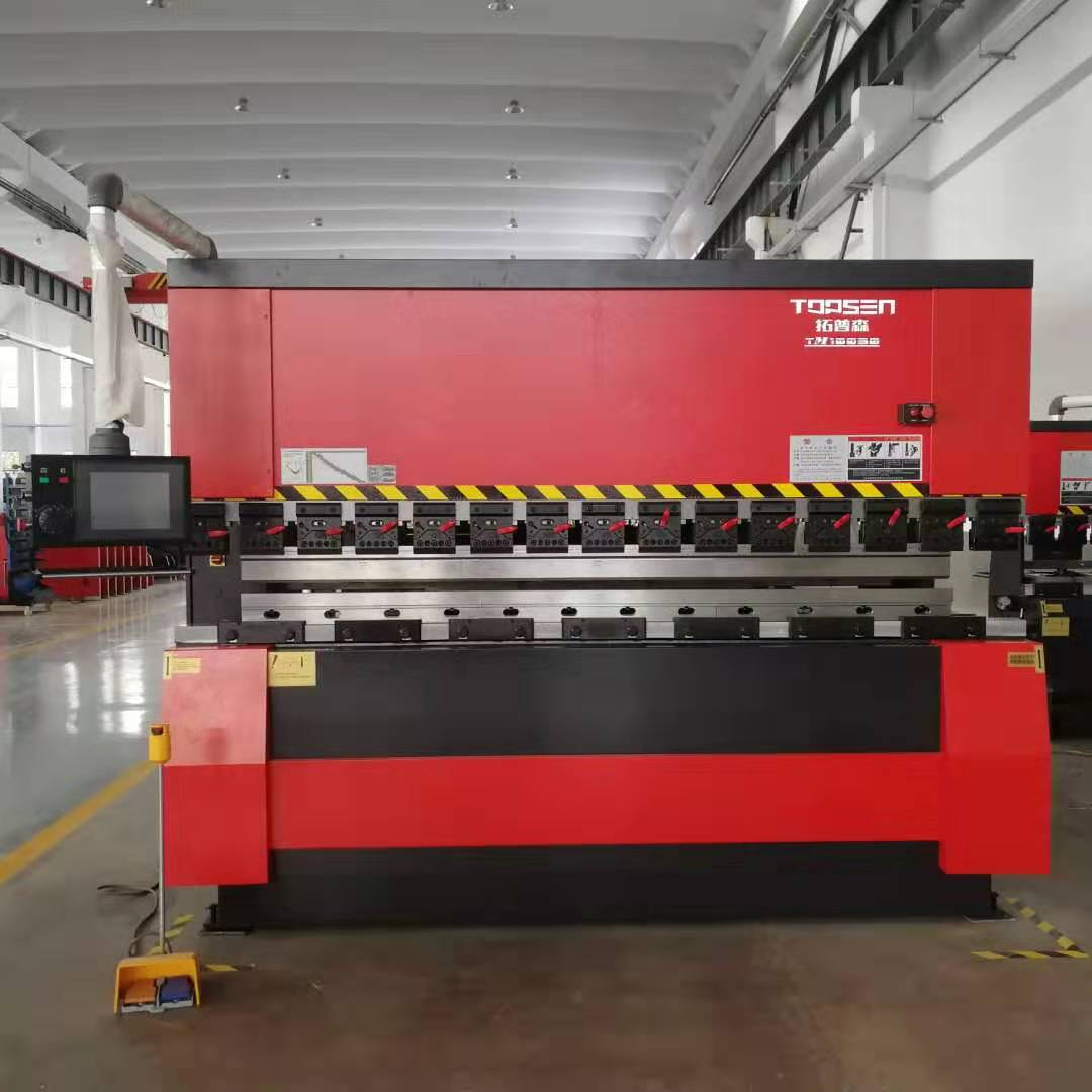 Hydraulic CNC press brake bending machine for sheet metal processing with 100Tons