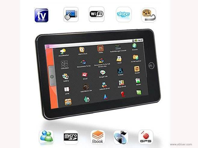 7 Inch Touchscreen Android MID with WiFi GPS Skype