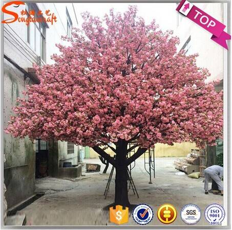 artificial cherry blossom tree plastic flower tree for wedding decor
