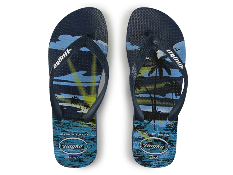 Popular china cheap beach personalized slippers men rubber flip flops factory