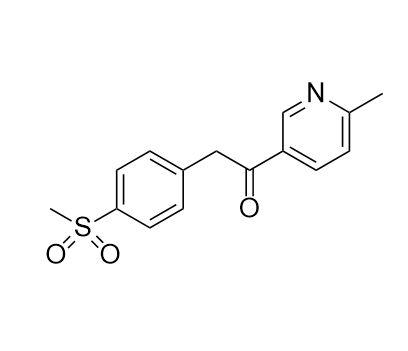 1-(6-methyl-3-pyridyl)-2-[4-(methylsulfonyl)-phenyl]ethanone (CAS NO.:221615-75-4)