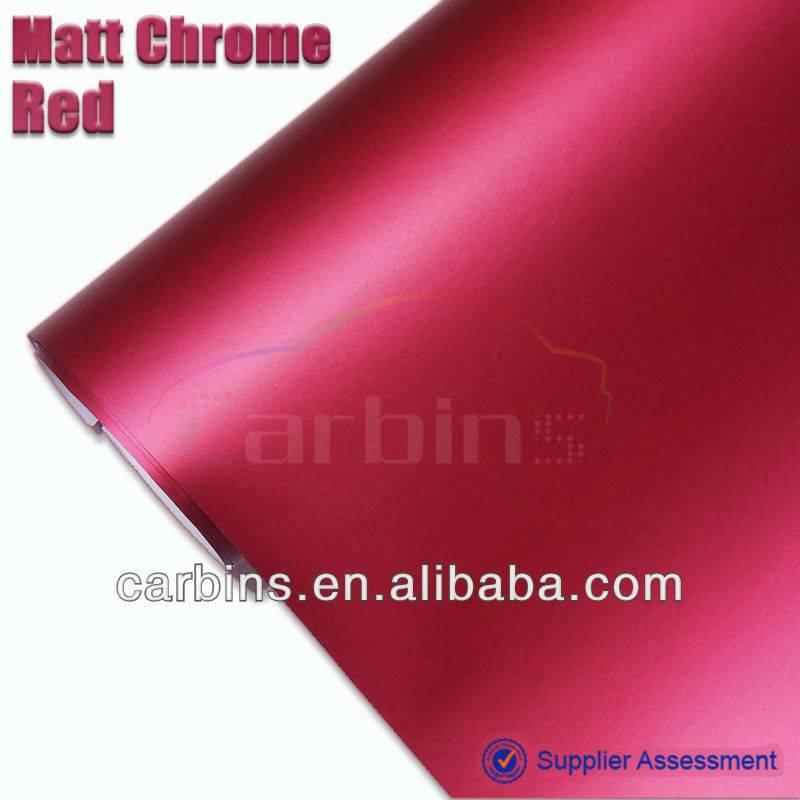 High Quality 1.52*20m Matte Red Chrome Vinyl Film For Car Decoration