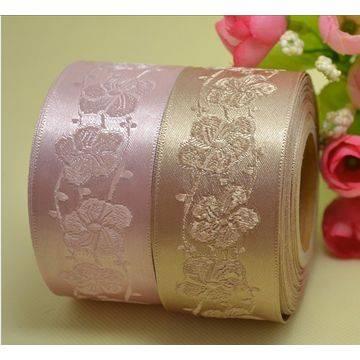 satin ribbon grosgrain ribbon jacquard elastic webbings for bra strap