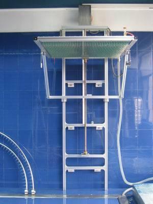 Vertical rain tester