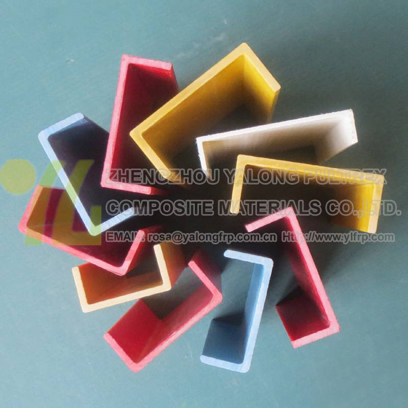 High quality pultruded fiberglass C channel profile, frp C channel u structural shape, pultruded FRP