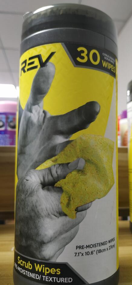 Heavy duty scrub Cleaning wipes in Tube