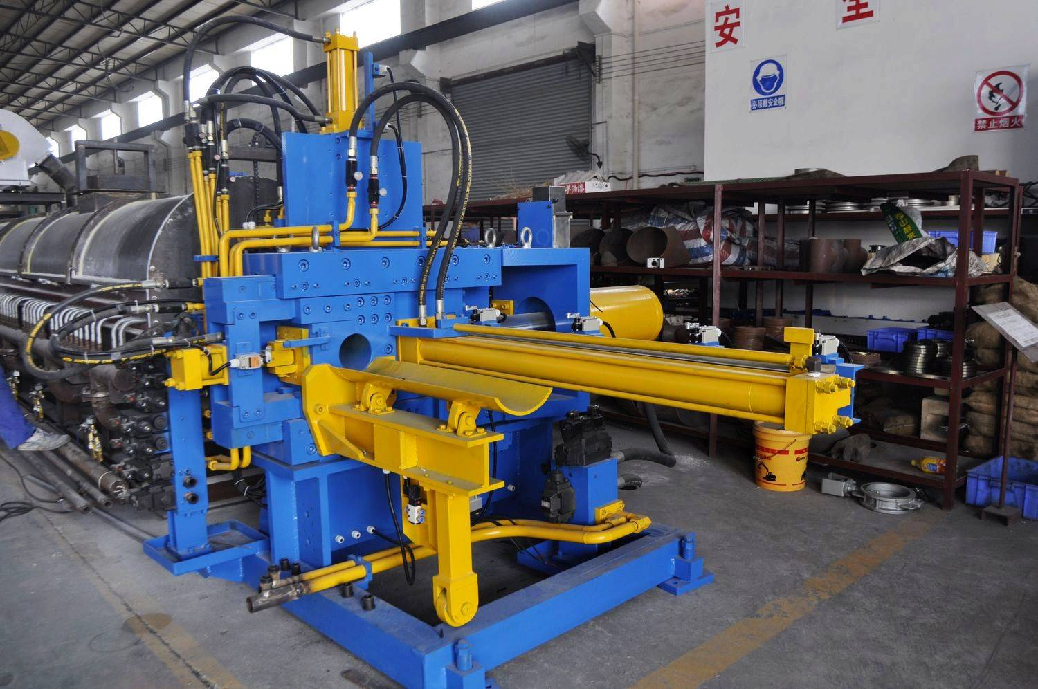 single hot log shear furnace