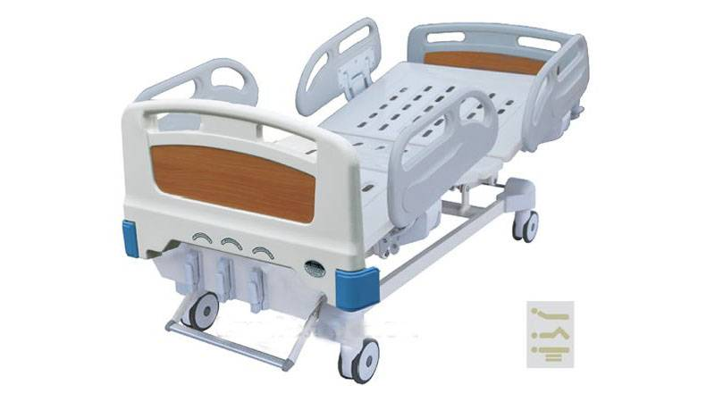 ABS triple folding hospital bed