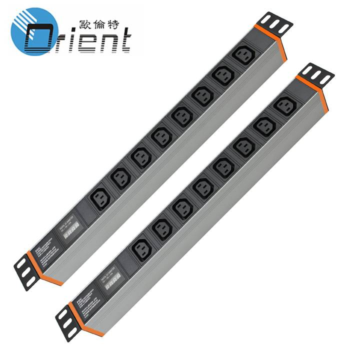 IEC C13 PDU 8 Outlet with current and voltage display