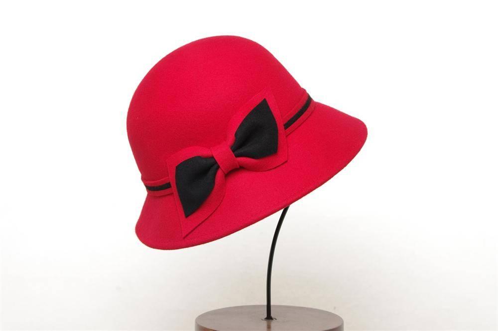 Woman Winter Bucket Wool Felt Hat (FW003088)