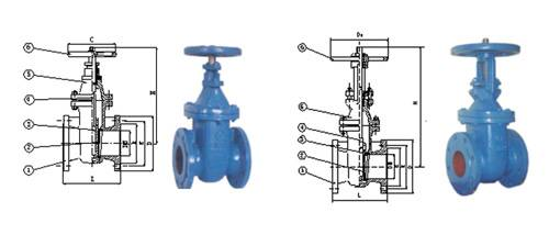 ANSI CLASS 125 CAST IRON GATE VALVES NRS AND OS&Y