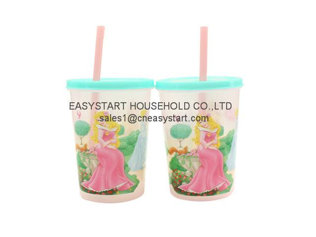 Plastic Straw Cup, Plastic Cup With Straw