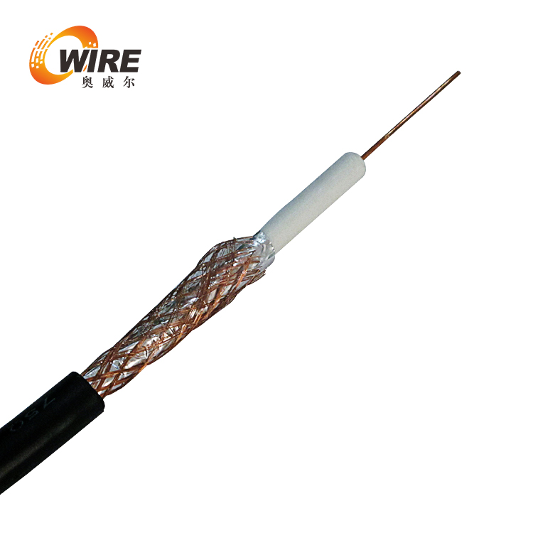 RG6 Coaxial Cable Dual Shield 1000 ft 18 AWG Coax Satellite TV Black