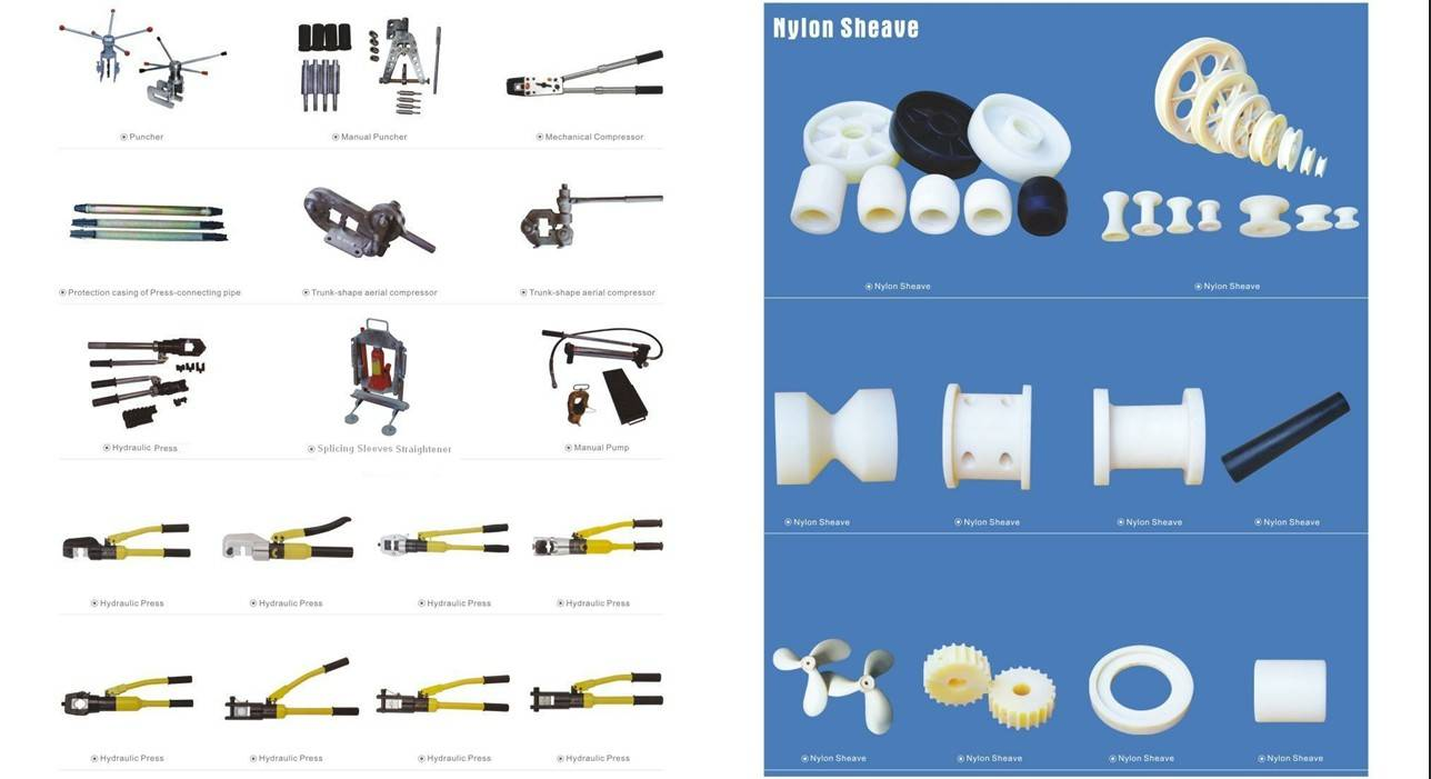 Ovehead Power line Construction OPGW Stringing Equipment and Accessories