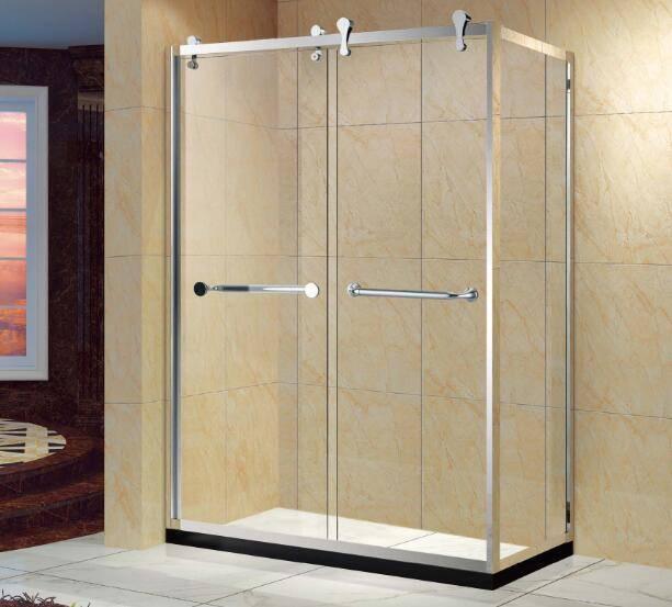 Luxuly Stainless Steel Frame 3 Panel Shower Door (Kt5214)