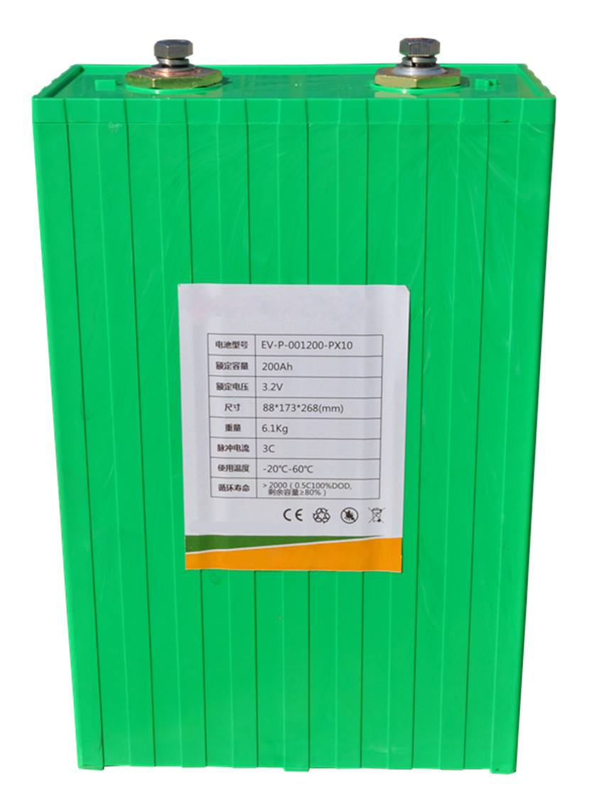Rechargeable 3.2V 200Ah LiFePO4 battery packs