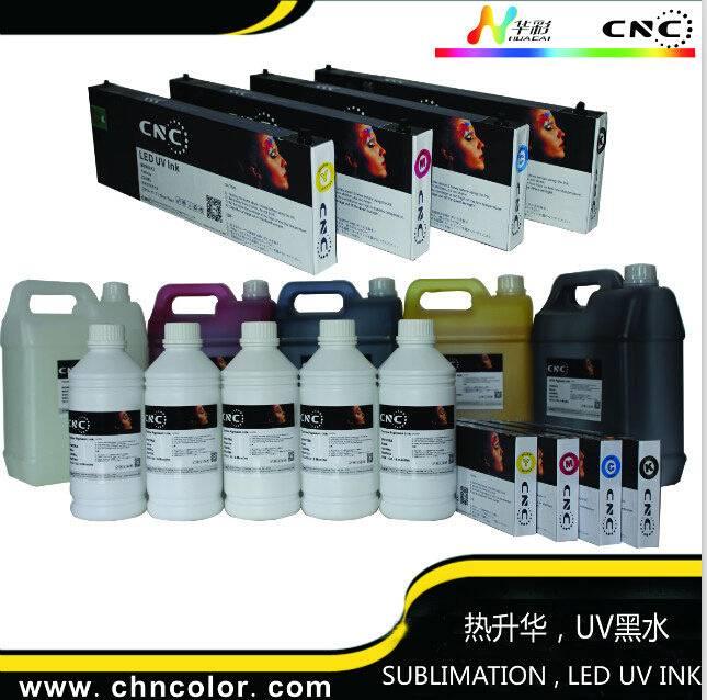 Huacai 4 vivid color CMYK sublimation ink compatible with dx4/dx5/dx7 printhead printers