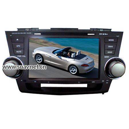 Car DVD Player for Toyota Highlander w/GPS Receiver/RDS iPOD/Steering Control
