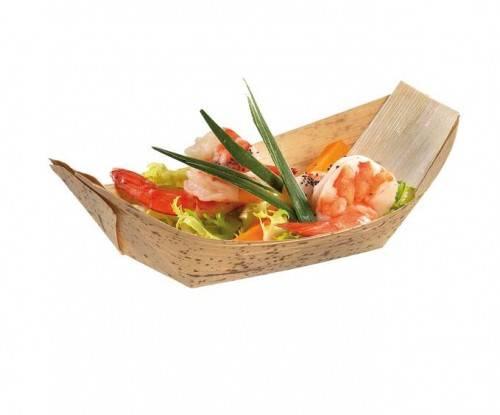 Bamboo leaf 180*95mm Boat dish