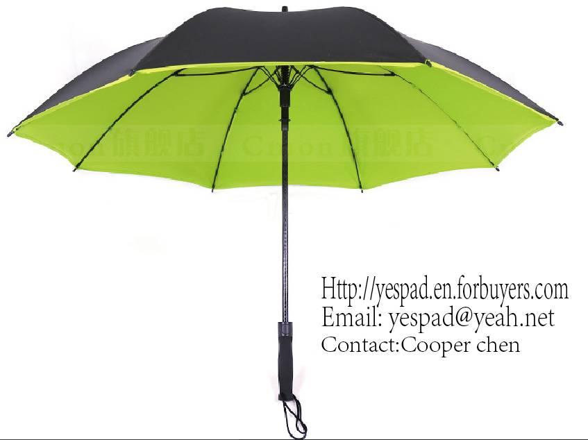 Straight Auto Pongee with Color Pigment Coating Umbrella