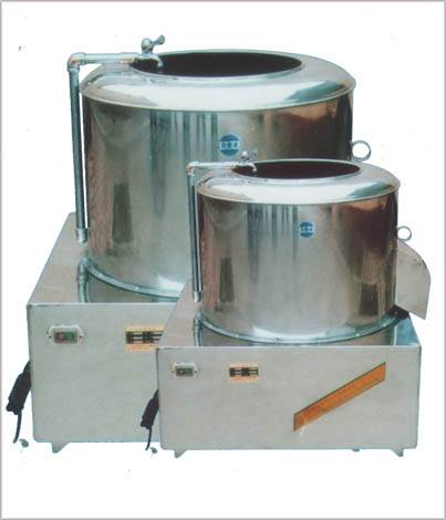 potato washing & peeling machine