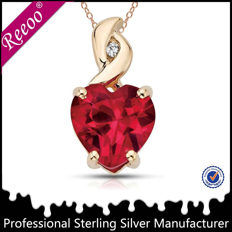 Trendy Heart crystal pendant silver 925 pendant