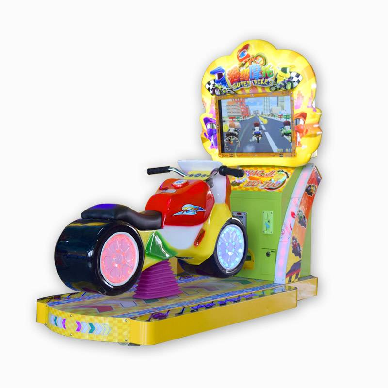 Electric coin operated arcade super motorcycle kiddie rides game machine supplier&exporter