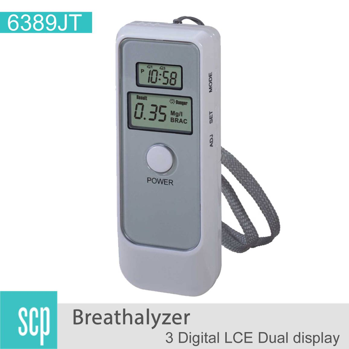 breath alcohol tester breathalyzer with clock-6389
