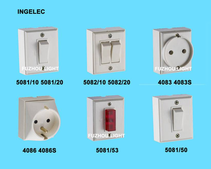 Wall switch - Ingelec design - RIF APPRENT - French type