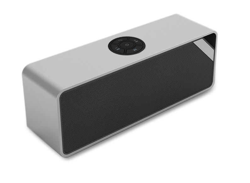 Sleek Metal Case Portable Bluetooth Speaker With Audio Jack Built-in 2200mAh Battery