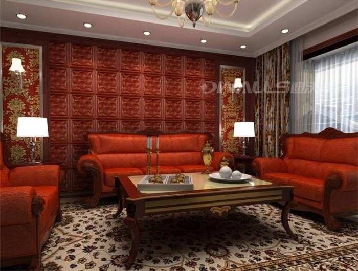 Retro style 3d wallpaper leather wall panels for interior decoration