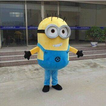 Despicable me minion mascot costume for adults despicable me mascot costume free shipping
