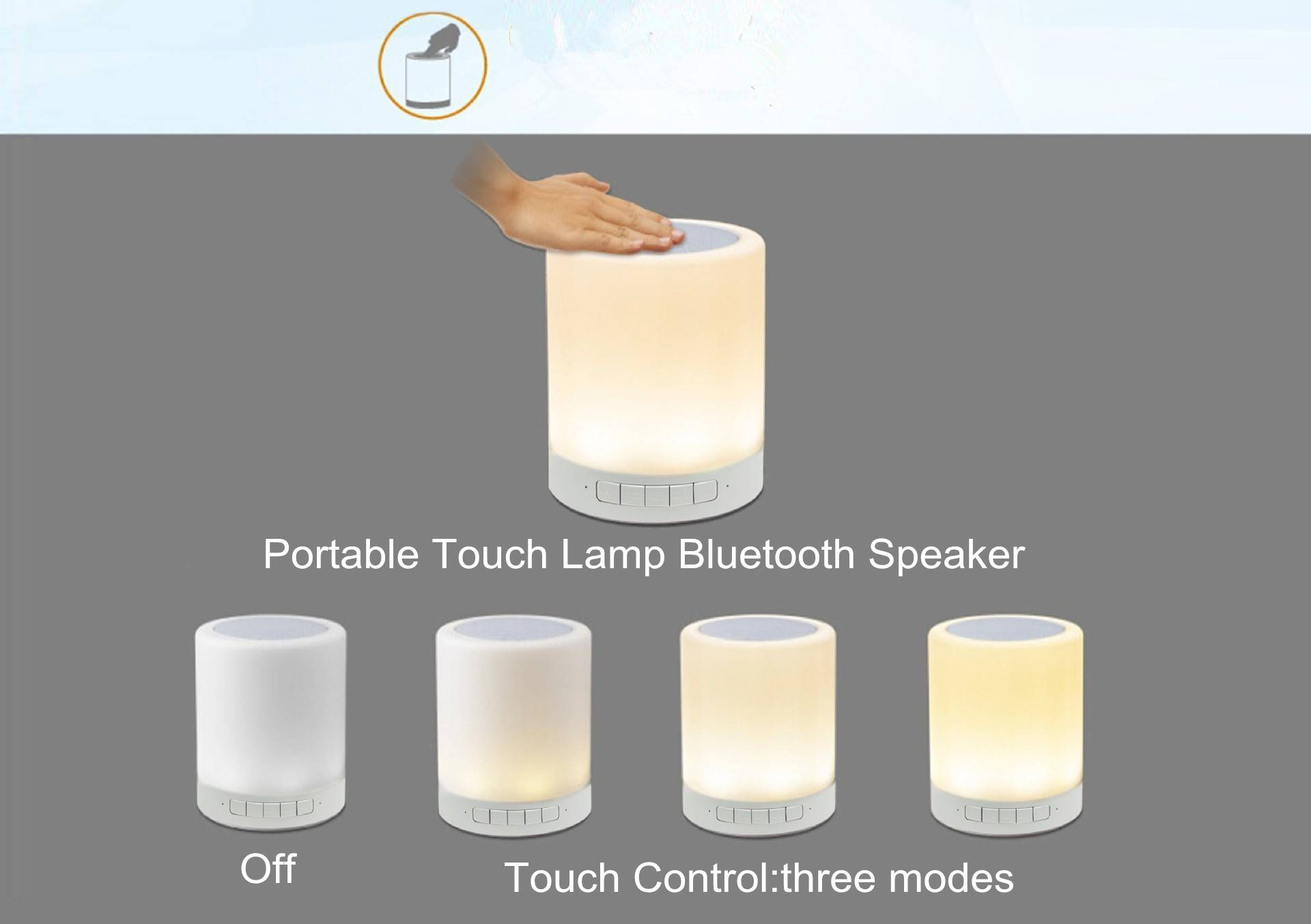 Touch Lamp Bluetooth Speaker with Hook