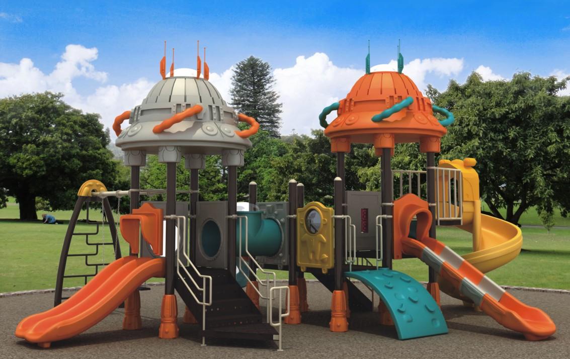 HLB-7080B Kids Plastic Slide Swing Set Children Playground
