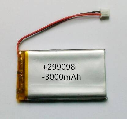 High quality Li-polymer battery pack 299098 3000mAh rechargeable battery pack