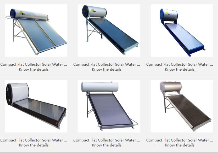 Compact Flat Collector Solar Water Heater