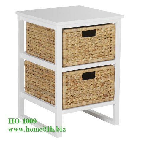 Best selling Water hyacinth Drawer Cabinets Storage Basket