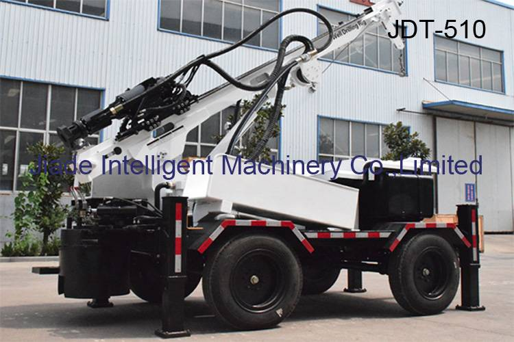water well drilling rig JDT510 trailer mounted drill
