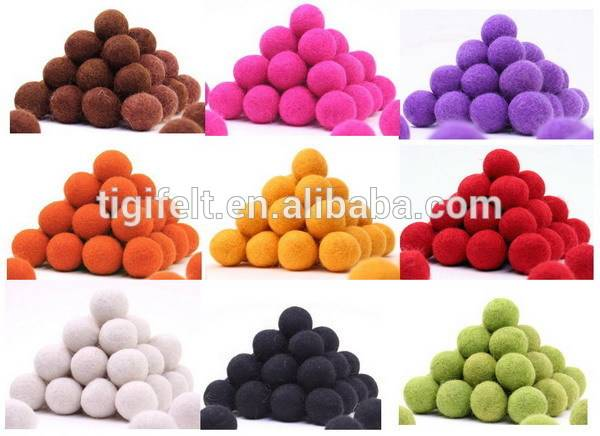 2-3cm wool balls for decoration with different colours