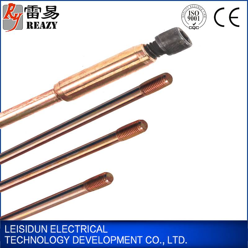 threaded copper rod copper clad steel ground rod wholesale