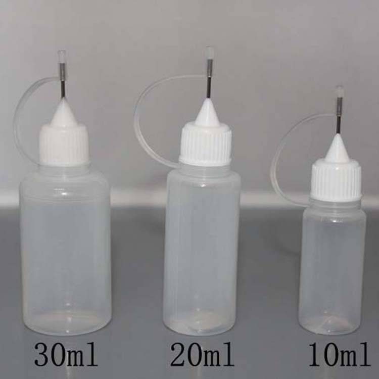 Soft Style PE Needle Bottle 5ml 10ml 15ml 20ml 30ml Plastic   Dropper Bottles