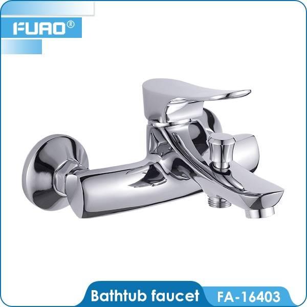Brass chrome bathroom mixers
