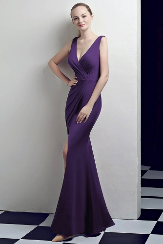 Bright Purple Bridesmaid Dresses-2020