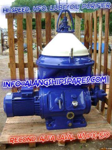 Reconditioned Alfa Laval oil purifier, waste oil purifier, engine oil purifier