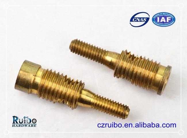 Brass external thread drive location pin