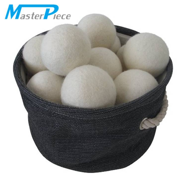 Natural white sheep wool laundry dryer balls (can be customized)