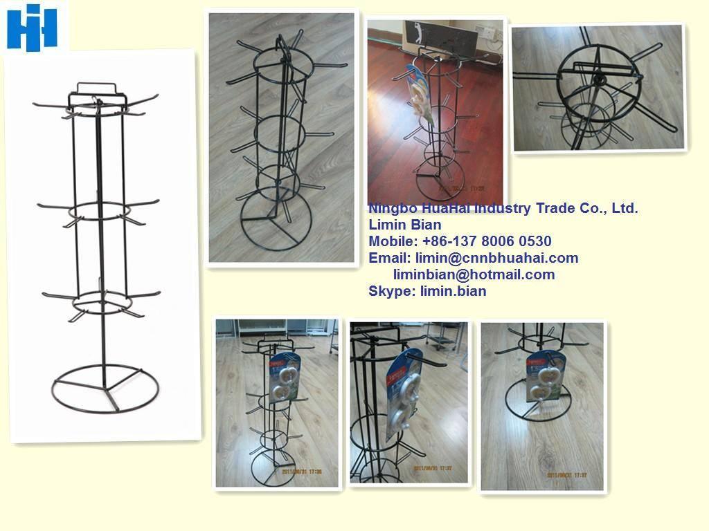 15-hook spinning countertop display rack
