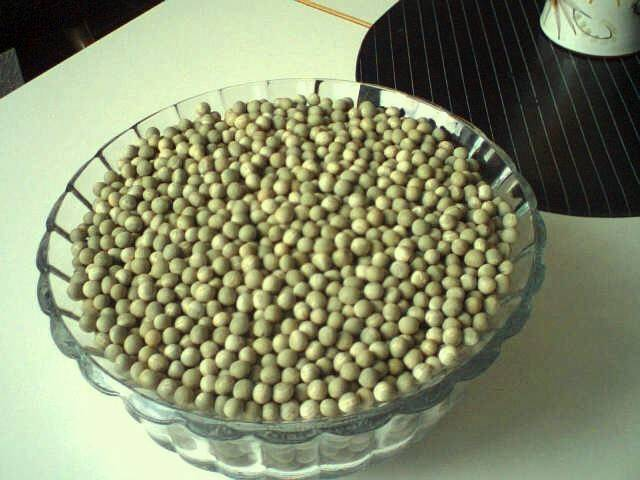 Dry green peas (smooth, round type)
