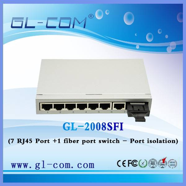 switch 12v with 7 port poe and 1 100M up link 12V power over switch for IP camera and wireless ap