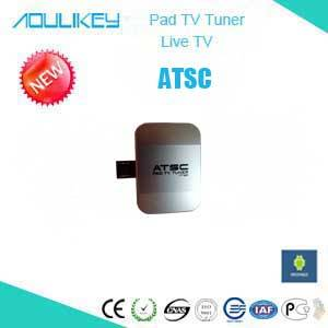 Mobile digital TV receiver/tuner/dongle with USB for ATSC on Android D204